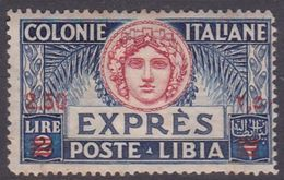 Italy-Colonies And Territories-Libya E 10 1922 Special Delivery Stamp, 2,50 On 2 Lire, Mint Never Hinged - Libya