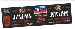"Etiquette De BIERE "" JENLAIN Garde Fermentation Haute 75 Cl "" - Beer"