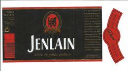 """Etiquette De BIERE """" JENLAIN Bière De Garde Ambrée 75 Cl """" - Beer"""