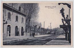 MAURS-LA-JOLIE (Cantal) - La Gare - Publicité Fête De Maurs 1934 - France