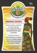 # PINEAPPLE PRUDENT GHANA Fruit Tag Balise Etiqueta Anhanger Ananas Pina Africa Afrika Afrique Chapeau Hat - Fruits & Vegetables
