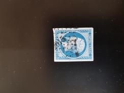N°14, 20 Cts Bleu, PC 2615, Quinson, Basses-Alpes. - 1849-1876: Période Classique