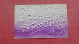 Wishbone Embossed To MY Dear Brother  Ref 2696 - Other
