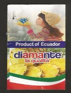 # PINEAPPLE DIAMANTE Fruit Tag Balise Etiqueta Anhanger Ananas Pina Costa Rica Chapeau Hat - Fruits & Vegetables