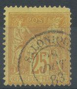 Lot N°37330  N°92, Oblit Cachet à Date étranger De SALONIQUE (Turquie) - 1876-1898 Sage (Type II)