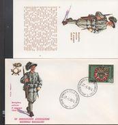 3179  FDC + Postal ,  Italia  1974  Uniformes Militares,. Sernaglia Della Battaglia , - Militaria