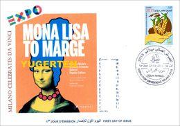 DZ 2014 FDC World Expo Milan 2015 Celebrates Da Vinci De Vinci Italia Italy Mona Lisa Joconde Gioconda - 2015 – Milan (Italy)