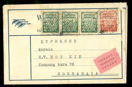 NEDERLANDS-INDIE * PER EXPRESSE * HANDGESCHREVEN BRIEF Uit 1952 Gelopen Van KETANDAN Naar SOERABAJA  (10.653h) - Indonesien