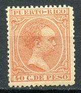 PUERTO RICO 1890, CAT. $250, 40 CTS. MNH**/MVLH* - Puerto Rico