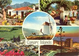 Canaries - 1978 - Générique - Multivues - John Hinde Dublin - Nº  CTG 250 - Ecrite, Timbrée, Circulée - 2112 - Espagne