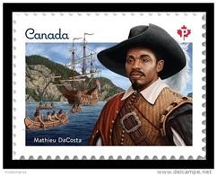 Canada 2017 Mih. 3452 Explorer Mathieu De Costa. Ships MNH ** - 1952-.... Reign Of Elizabeth II