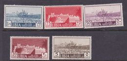Italy-Colonies And Territories-Libya S 158-162 1938 13th Tripoli Fair, Mint Never Hinged - Libya