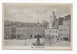 CPA Allemagne Thuringe Jena Der Marktplatz 1928 - Port Simple Grauit Free WW Postage - Jena