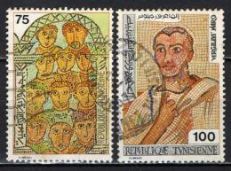 TUNISIA - 1976 - MOSAICI ANTICHI  - USATI - Tunisia (1956-...)