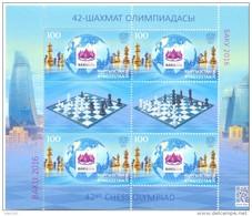 2016. 42th Chess Olympiad Baku'2016, Sheetlet, Mint/** - Scacchi