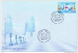 2016. 42nd Chess Olympiad Baku 2016, FDC, Mint/** - Schaken