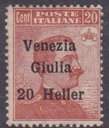 Venezia Giulia N32 1918 Italian Stamps Overprinted 20h On 20c Brown Orange, Mint Hinged - 8. WW I Occupation