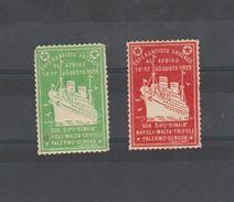 "ESPERANTO - 2 Vignettes 1935 - Croisiere - BATEAU - PAQUEBOT ""SINAIA"" - Organisaties"