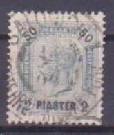 65-744 // LEVANTE  - 1901   2 Piaster Auf 50 Heller  Mit Lackstr.  Mi 42 O - Oriente Austriaco