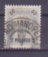 65-746 // LEVANTE  - 1901   2 Piaster Auf 50 Heller  Mit Lackstr.  Mi 42 O - Oriente Austriaco