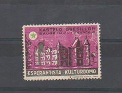 Baugé - Maine Et Loire - Chateau GRESILLON - 1 VIGNETTE - ESPERANTO - Sans Gomme - Organisations