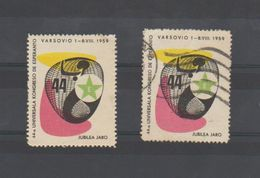 ESPERANTO - 1959- POLOGNE - VARSOVIO - VARSOVIE - 2 Vignettes - Organisaties