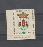 ESPERANTO - 1956 - DANEMARK - COPENHAGUE -Vignettte Avec Bord De Feuille - Avec Gomme - Organisaties