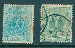 Belgie - 1866 -  2c D14½x14 - 1866-1867 Petit Lion (Kleiner Löwe)