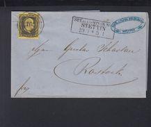 Preussen Falthülle 1855 Stettin Nach Rostock - Preussen