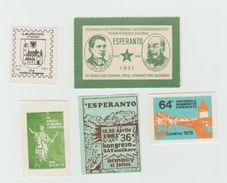 ESPERANTO - 5 Vignettes - Sans Gomme - Organisaties