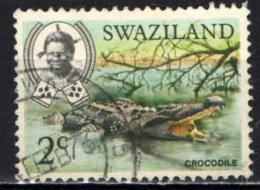 SWAZILAND - 1969 - FAUNA AFRICANA: COCCODRILLO - USATO - Swaziland (1968-...)