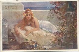 Tortue Et Iguane Avec Une Tres Belle Femme Grecque Signée Tortoise BKWI Aphrodite Chryse - Schildpadden