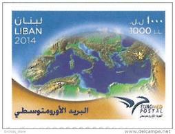LIBAN 2014 ** NEUF - EUROMED POSTAL UPU Emission Commune Entre 11 Pays De La Mediterrannee. Quantite Tres Limite - Libano