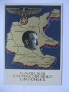 GERMANY 1938 - Postcard - Ein Volk Ein Reich Ein Fuhrer - Allemagne