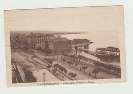 CIVITAVECCHIA - VIALE DELLA VITTORIA E PIRGO -VIAGGIATA 1931- ITALY POSTCARD - Civitavecchia