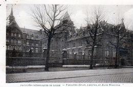 78Sm  59 Lille Facultés Catholique De Droit Lettres Et Aula Maxima (vue Pas Courante) - Lille