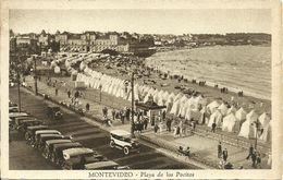 Montevideo (Uruguay) Playa De Los Pocitos, Spiaggia, Beach, Plage, Auto D'epoca, Voitures, Cars - Uruguay