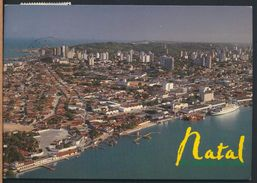 °°° 8243 - BRASIL - NATAL - VISTA AEREA DA CIDADE - 1998 With Stamps °°° - Natal