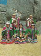 Cusco (Perù) Bailarines De La Fiesta Del Inti-Raymi, Dancers At The Inti-Raymi Festival, Timbro Meccanico Rosso - Perù