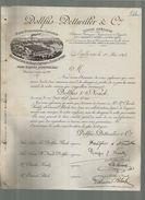 Rare Courrier Illustré Usine Sausheim Tissu Filature Signé Dollfus Flach Dettwiller Noack Kuntz Bloch Mulhouse 1-05-1894 - Francia