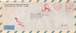 25728. Carta Aerea SAO PAULO (Brasil) 1960. Via VARIG Airlines - Brasil
