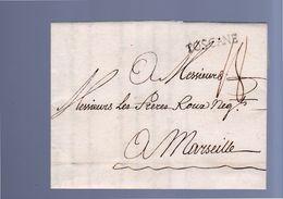 1773 Job Application Livorno TOSCANE To Freres Roux Marseille (EO57) - Parma