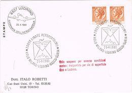25729. Carta Aerea LODRINO (Italia) 1981. VOLO SOSPESO Milano A Lodrino - 1981-90: Storia Postale