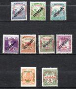 HONGRIE  (Szegedin) 1919  (*)  Y&T N° 26-27-28-31-34-36-38 + Journaux - Gomme & Trace Charnière - Gum & Hinger Mark - Ungheria