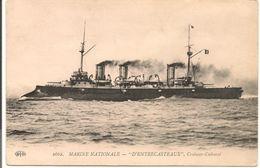 """L100C042 - Marine Nationale - """" D' Entrecasteaux"""" - Croiseur Cuirassé - ELD N°2662 - Guerra"""
