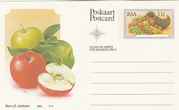 11c SOUTH AFRICA  Postal STATIONERY CARD Illus APPLE FRUIT Cover Stamps Rsa Grapes  Banana - Fruits