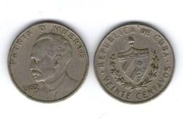 MOneta Cuba Kuba 20 Centavos 1962 - Cuba