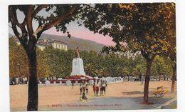 BASTIA - N° 6 - PLACE ST NICOLAS ET MONUMENT AUX MORTS AVEC PERSONNAGES - CPA NON VOYAGEE - Bastia