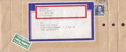 Denmark Småpakke Petit Paquet Label Brotype IId? HØRSHOLM 1986? Cover Brief PERFIN Perforé Lochung (3 Scans) - Briefe U. Dokumente
