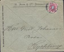Sweden H. ASCH & Co., STOCKHOLM N. 1896 Cover Brief HYCKLINGE 4 Öre Stamp - Schweden